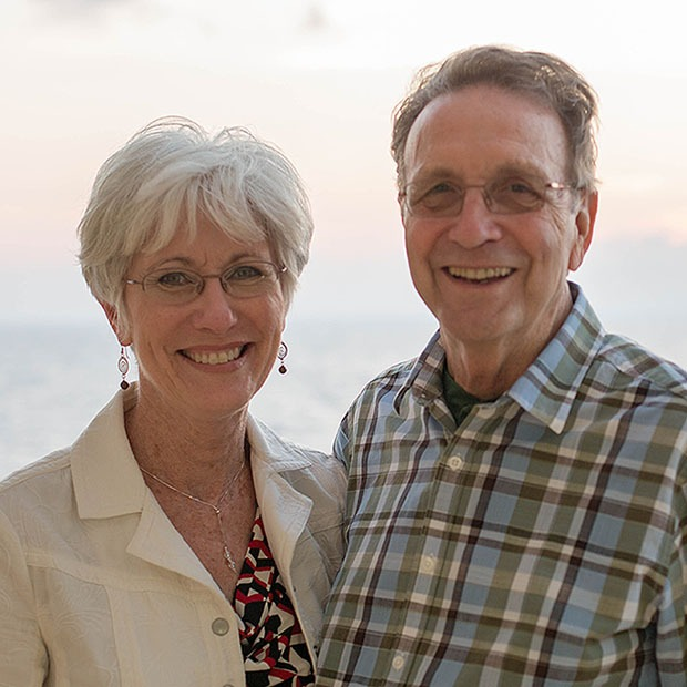 Picture of older man and older woman smiling