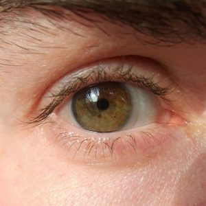 Close up shot of brown eyes